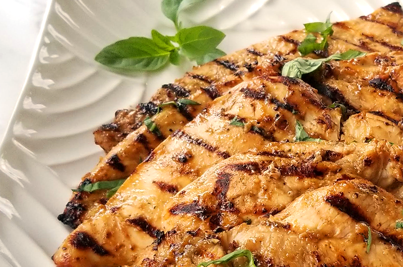 grilled chicken with dijon and balsamic vinegar