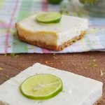 key lime bars on tray