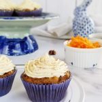multiple carrot cake cupcakes