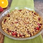 strawberry crumble with orange finished