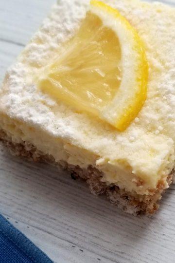 lemon bar one close up