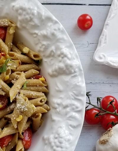 pasta salad half bowl