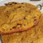 pumpkin cookies on plate