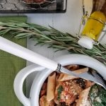 chicken sausage penne in bowl