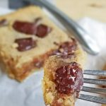 bite of chocolate chip pbutter bars