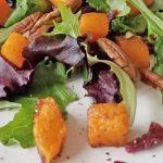 close shot of salad