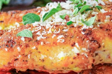 parm chicken on plate
