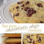chocolate chip cookies - pin it image
