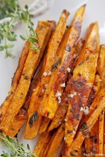 sweet potato fries on plate