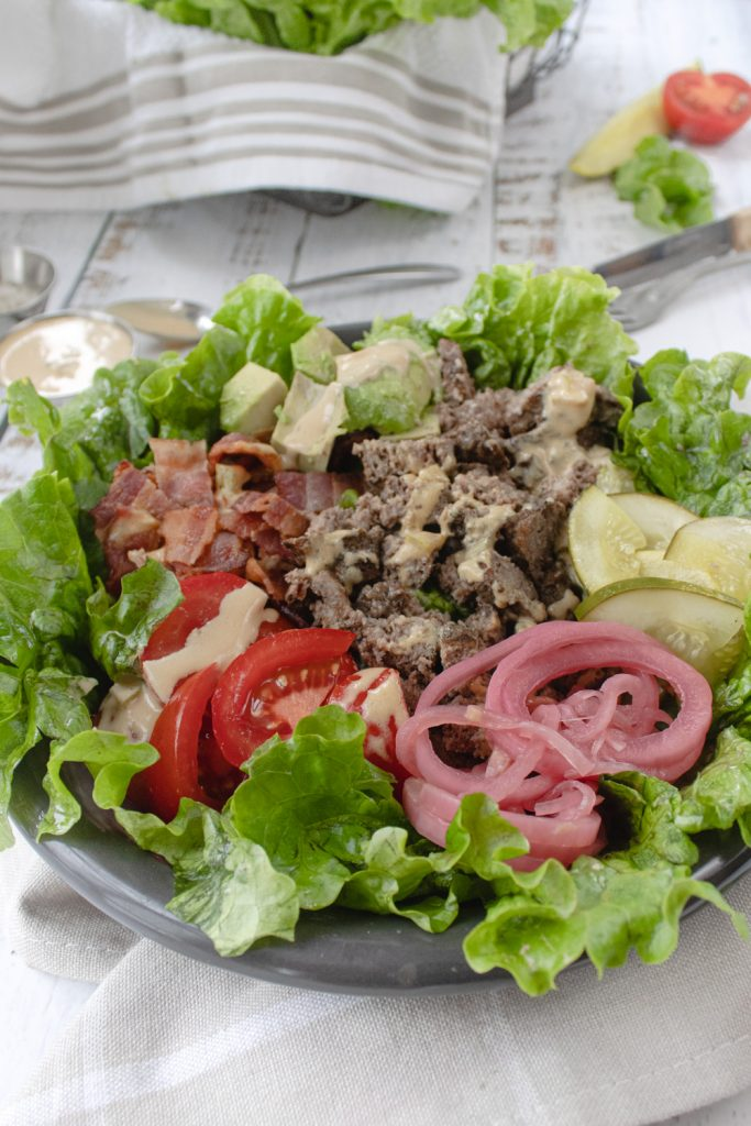 burger bowl salad