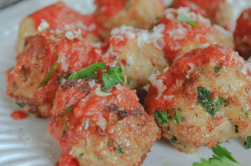 the most flavorful ground chicken meatballs ever