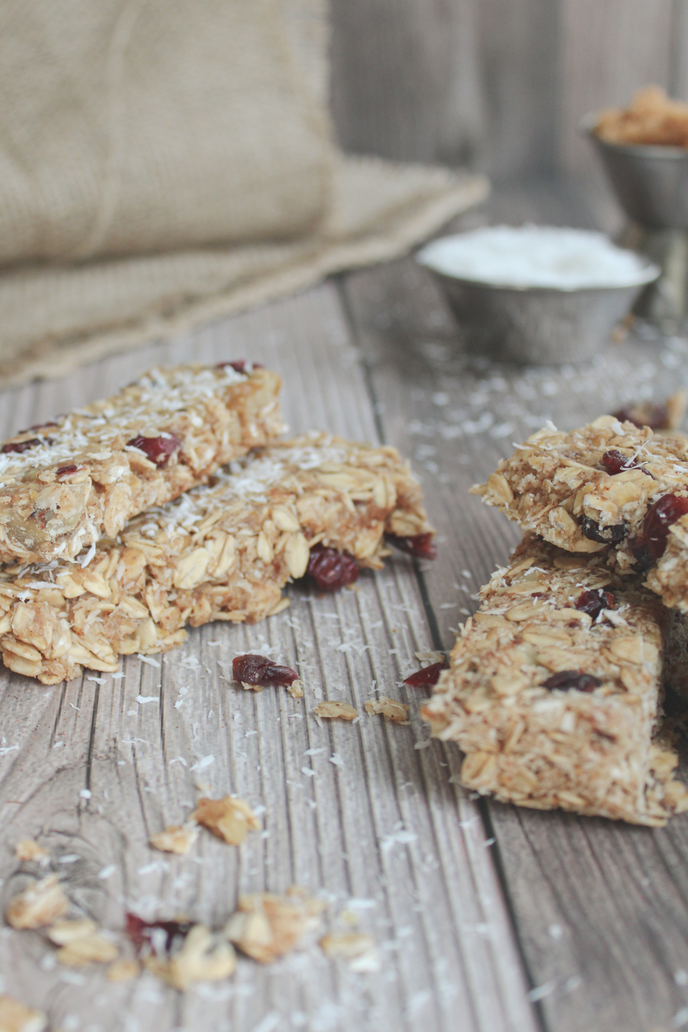 granola bars with coconut