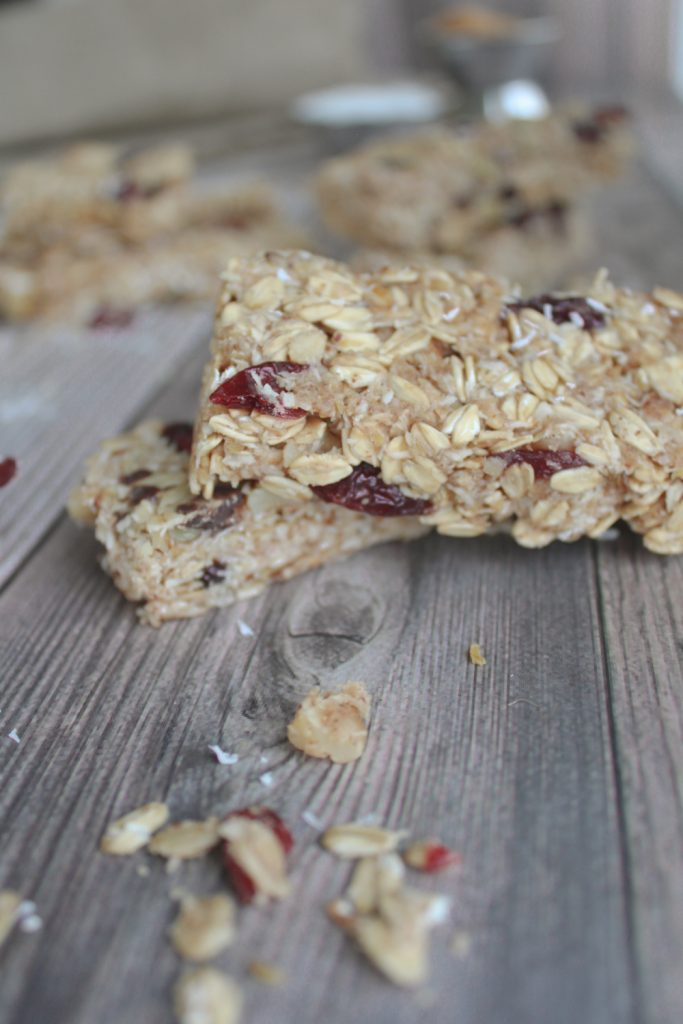 2 granola bars up close
