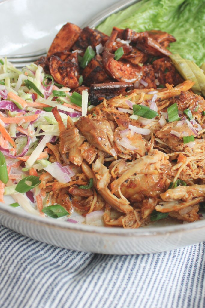 bbq pulled chicken with slaw