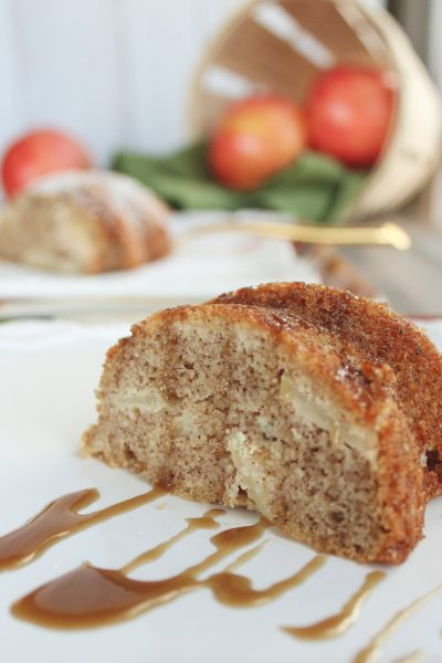 apple cake with caramel