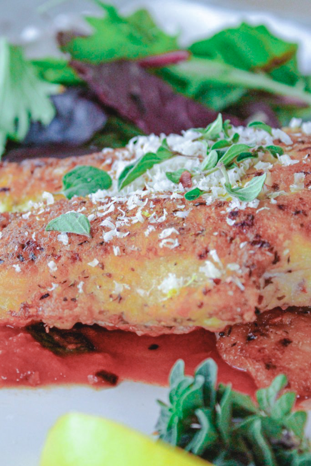 chicken cutlet with oregano