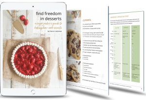 low carb ebook on tablet with 2 pages