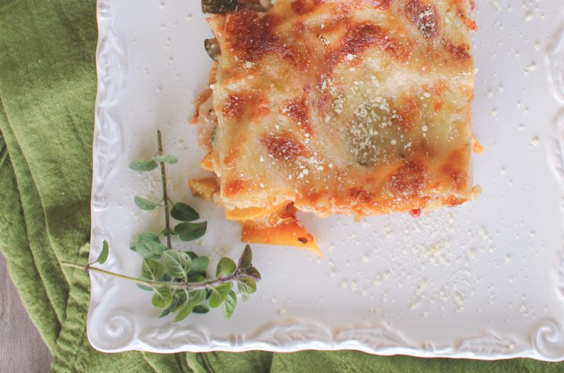 healthy vegetable lasagna with white sauce: guilt-free comfort